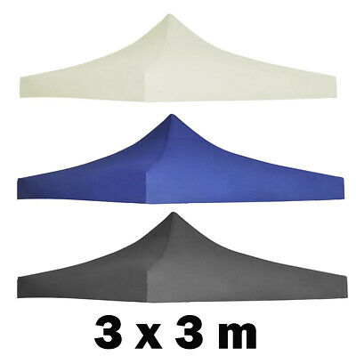 3x3m Replacement Party Tent Roof Top Cover Floding Pop-up Marquee Gazebo Canopy