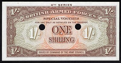 GB Military; British Armed Forces. 1 shilling. (1962). Punch hole cancelled. ...