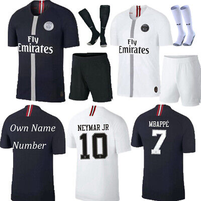 reputable site 92214 cd3fc NEW 2019 FOOTBALL Kits NEYMAR JR Soccer Short Sleeve Jersey 3-14Y Socks  Outfits