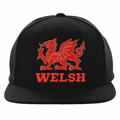 c6a7dea829721 Welsh Dragon Embroidered Snapback, Cymru Patriot Flag Of Wales Workwear Hat