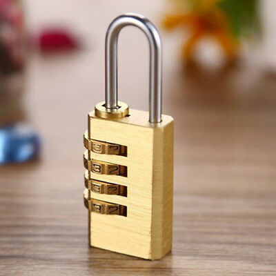Mini 4Digit Dial Combination Password Code Lock Metal Luggage Resettable Padlock
