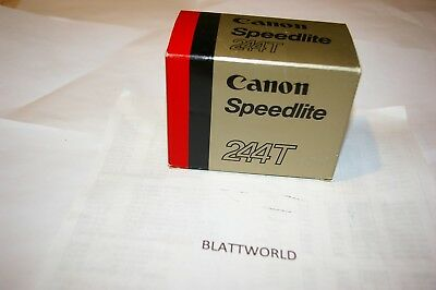 NEW OLD STOCK GENUINE ORIGINAL CANON BRAND 244T ELECTRONIC FLASH in BOX