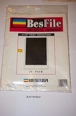 BESFILE 25 Pages for 8X10 PRINTS ULTRA CLEAR ARCHIVAL Negative Pages