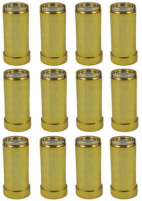 12 x One Pound £1 Coin Holder Gadget Holds Up to 15 Coins Gold Coloured