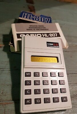 Calculator CASIO HL-807 + boxed + instructions.