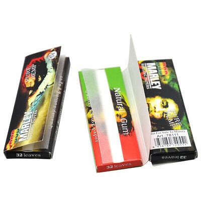 5 X BOB 78*44MM 11/4 32leaves Natural Unrefined White ROLLING PAPERS