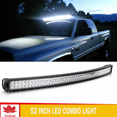 52inch 700W Curved LED Light Bar Flood Spot Roof Driving Truck Boat SUV 4WD 50