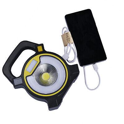 Portable Rechargeable COB Flood Light Flashlight Torch Garden Work Spot Lamp