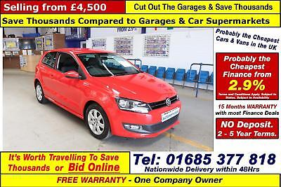 2012 - 12 - Volkswagen Polo 1.2 Petrol Match 60 3 Door Hatchback (Guide Price)