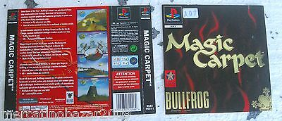 Magic Carpet (1996) Playstation 1 Cover, No Disco