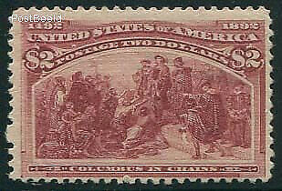 United States of America 1893 -  $2, Columbus in chains, suso!85a