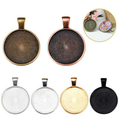 10pcs Stainless Steel Cameo Cabochon Base Setting Charm Pendants Trays For DIY