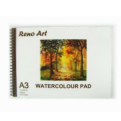 A3 Watercolour Book Pad Paper 15 sheets 30 Pages 280 GSM Art Craft Painting