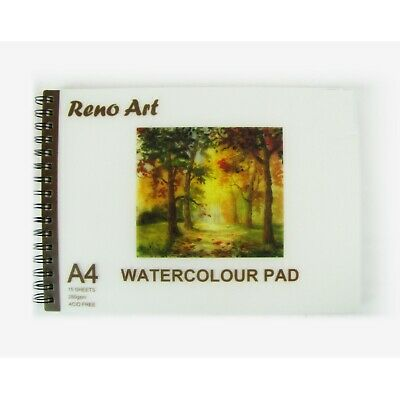 A4 Watercolour Book Pad Paper 15 sheets 30 Pages 280 GSM Art Craft Painting