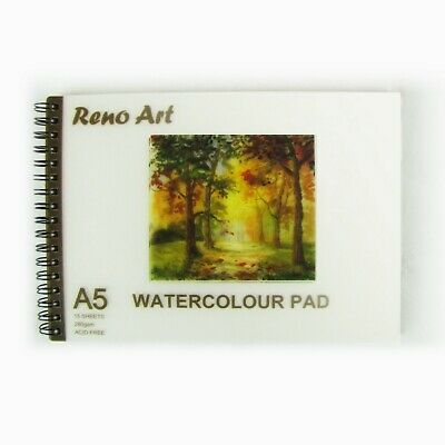 A5 Watercolour Book Pad Paper 15 sheets 30 Pages 280 GSM Art Craft Painting