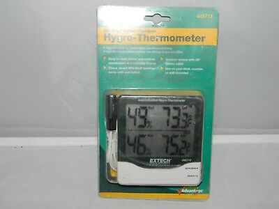 Extech 445713 Big Digit Indoor Outdoor Hygro Thermometer