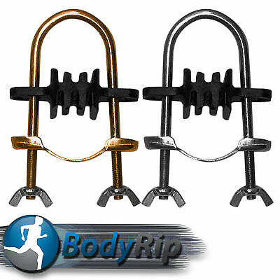 Trampoline Pole Brackets (Stainless Steel Enclosure Clamps) by BodyRip