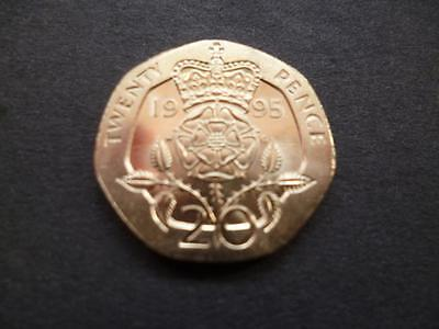 1995 Brilliant Uncirculated Twenty Pence Piece. 1995 Uncirculated 20P Coin.