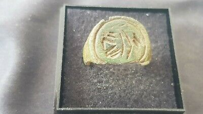 Very rare indeed Stunning large Roman bronze ring A must read description. L130L