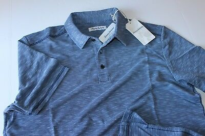 de3d1e9c Tommy Bahama Polo Shirt Double Tempo Maritime Blue T217843 New Large L