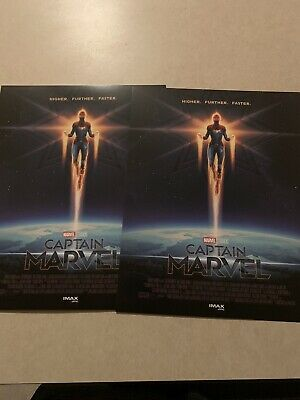 "1 CAPTAIN MARVEL AMC IMAX 8.5"" X 11"" Poster  Photo MARVEL STUDIOS Brie Larson"
