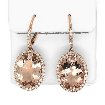 18K Rose Gold Filled Hypo-Allergenic Egg Oval Crystal Pendant Jewelry Z853