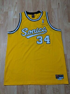 742c4c998fa Nike Ray Allen Seattle Supersonics Nba Jersey Gold Green Rare (Size 2Xl+ 2)  Guc