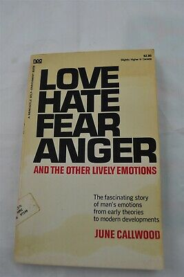 Love, Hate, Fear, Anger and Other Lively Emotions Paperback – December, 1971