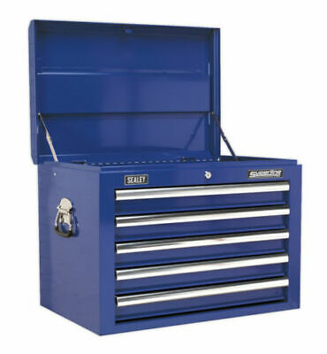 Sealey AP26059TC Blue Topchest Toolbox Ball Bearing Runners Slides 5 Drawer