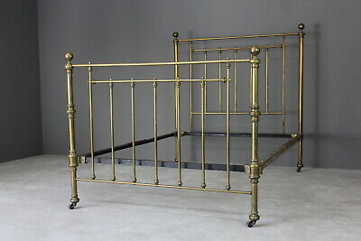Antique Double Brass Bed Frame Bedstead