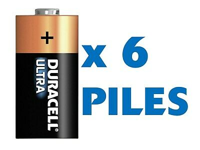 Lot de 6 Piles 123 / CR123 / CR123A / CR17345 Duracell Photo Lithium 3V
