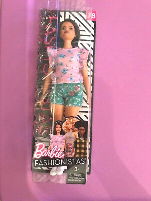 Wow Adorable Fashionista #78 Barbie Doll Floral Frill Curvy Brand New Mint