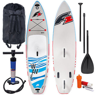 F2 INFLATABLE WAVE Windsurf Sup Stand up Paddle Board Complete Set Ws I-Sup  Set