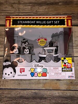 TSUM TSUM Steamboat Willie Gift Set Walgreens Mickey Mouse NEW Free Shipping
