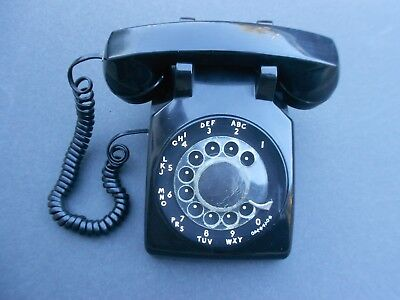 VTG BELL SYSTEM Western Electric 500MM Rotary Dial Phone Black