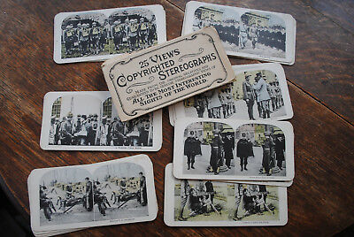 25 Wwi Stereoviews - Us Troops - Pershing - Allied Forces - Aerial Camera - Foch