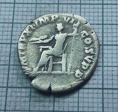 Original Ancient ROMAN SILVER COIN denarius Commodus / Commod  138-161 AD. #0021