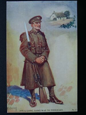 Patriotic WW1 LONG WAY TO TIPPERARY by Artist lawson Wood c1915 Postcard No.5
