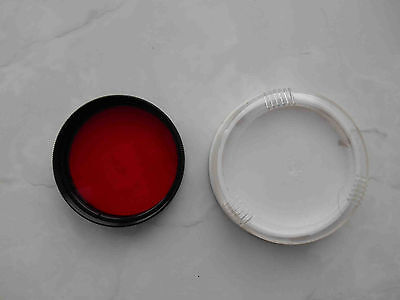 RED light filter R-8 mount 52 mm in box for russian lens Helios 44M and other