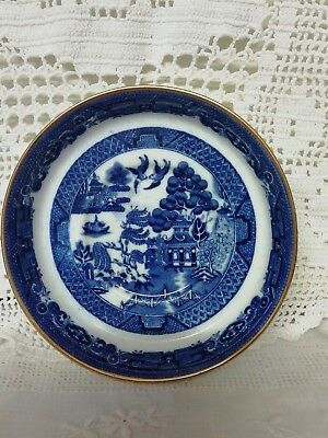 Antique Spode Copelands China Blue & White Willow Pattern Dish Thomas Goode 1920