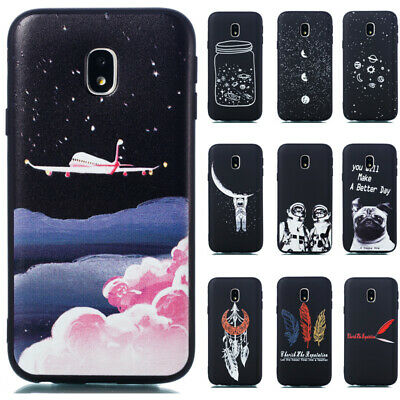 For Samsung Galaxy J3 J5 J7 2017 Slim Soft Silicone TPU Painted Matte Case Cover