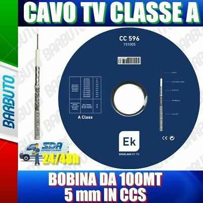 CAVO TV E SATELLITARE FRACARRO Diametro 5mm, CLASSE A 100 MT (PAS4025103)