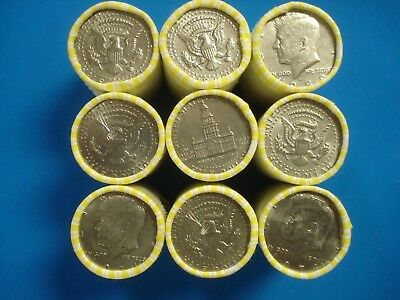 Roll Of Half Dollars Machine Wrapped Unsearched Possible Silver Coins