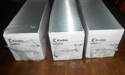 3X 60AM10 Kimble Chase Disp Culture Tubes, 10 x 75mm. Lime Glass