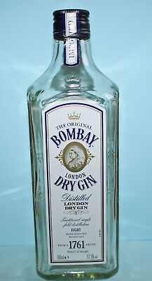 Alte Bombay London Dry Gin Flasche / Bottle / Bouteille
