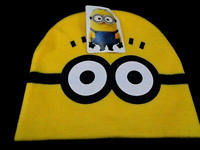 a6cdc08b289e9 Minions Hat Despicable Me Dave Winter Knit Beanie Cap Kids One Size NEW  Toddler