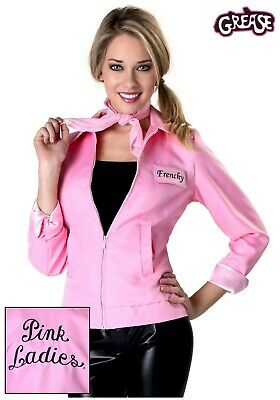 WOMEN'S GREASE PINK LADIES JACKET COSTUME SIZE LARGE (with defect)