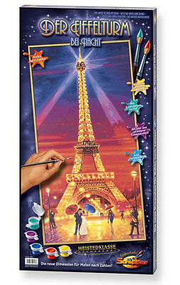 NO MIXING NEEDED Painting by number Schipper Paris Eiffel Tower by night