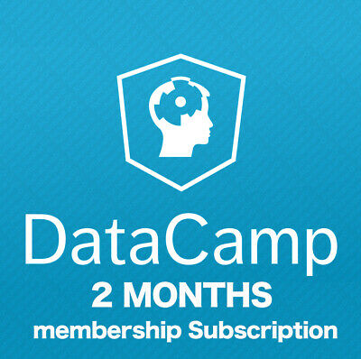 DataCamp 2 Months Membership Personal No Shared Full Access to All Courses