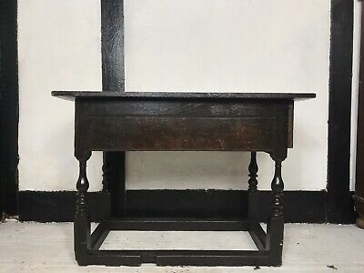 Antique 19th Century Victorian Oak Side Table